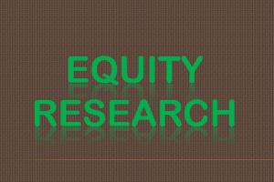 Portfolio for Equity Research