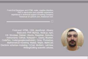 Portfolio for Web developer and computer modeling