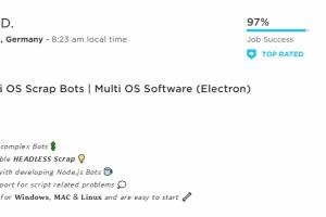 Portfolio for Multi OS Scrap Bots | Node.js Bots
