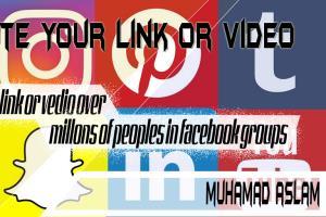 Portfolio for link share using Facebook