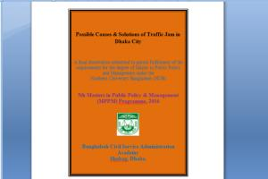 Possible Causes & Solutions of Traffic Jam in Dhaka Cit