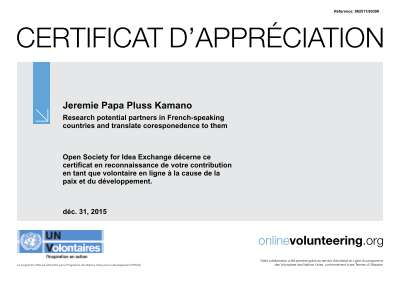 Jeremie kamano papa pluss freelancer on guru certificate 1pdf yadclub Images