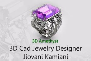 Portfolio for 3d CAD Jewelry Designer