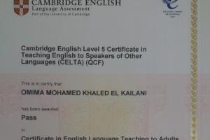Portfolio for Cambridge Certified English Teacher/ Tra