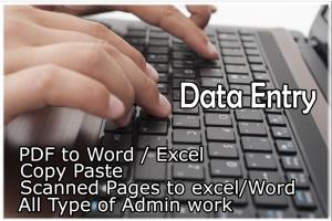 Portfolio for Data Searching & Entry