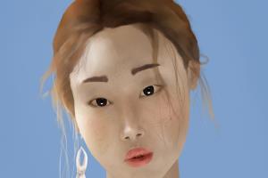 Portfolio for Digital painting portrait