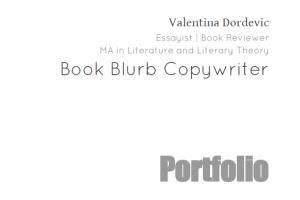 Portfolio for Book Blurb Copywriting