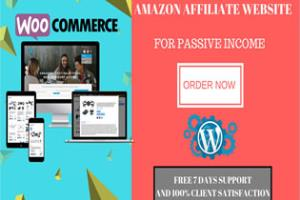 I will create an amazon affiliate site
