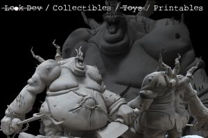 Portfolio for 3D sculpting