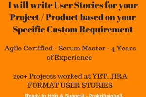 Portfolio for I can write Agile User Stories