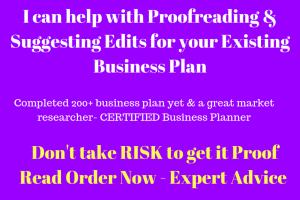 Portfolio for Proofread your existing Business plan