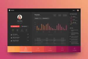 Admin dashboard design - Sketch