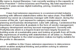 Portfolio for Industry Expert in Multichannel Retail