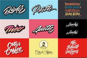Portfolio for Design with Hand Lettering and Typograph