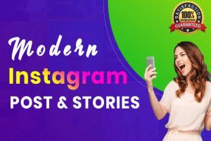Portfolio for I will design Instagram Post and Stories