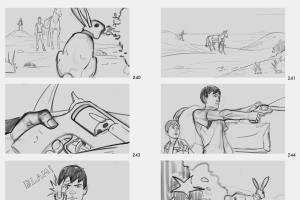 Storyboards for a 2D animation project