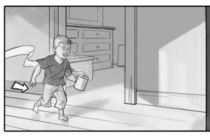 Storyboards for a TV commercial pitch