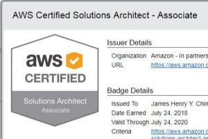 Portfolio for Certified AWS Solutions Architect