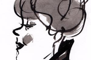 Portfolio for Black and White Cartoon Portraits