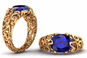 Portfolio for Jewelry Designer and 3D Modeler and Rend