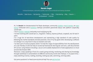 Portfolio for Full Stack | JavaScript | Angular | Node