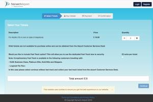 Airport Development Fee Ticketing Website - Norwich Air