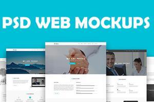 Portfolio for Photoshop Mockup for your WebSite
