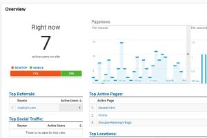 Portfolio for google analytics and search console