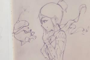 Portfolio for Character pencil drawing/sketch