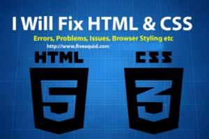 Portfolio for Html, Css, Php Bugs and Wordpress issues