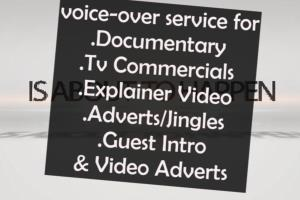 Portfolio for voice-over and professional Adverts