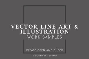 Portfolio for I will draw a detail vector line art