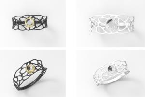 Portfolio for 3d jewelry design and modelling