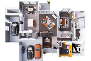 Portfolio for 2d floor plan or 3d floor plan