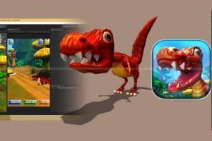 Portfolio for 3d model, texture, rigg, animation