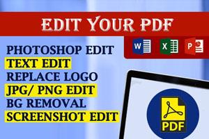 Portfolio for PDF Editing, Image Doc Editing