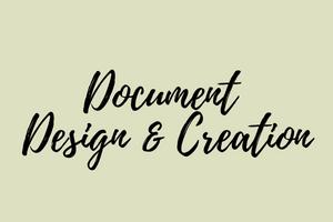 Portfolio for Document Design & Creation