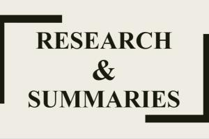 Portfolio for Research and Summary
