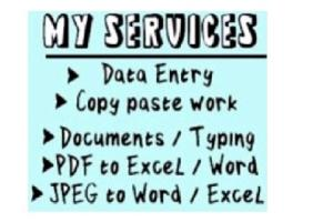 Portfolio for Expert Word/Excel || Typing Expert