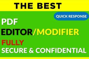 Portfolio for Edit, Modify All PDF Document/Pdf Editor