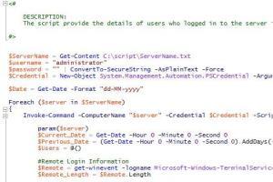 Portfolio for PowerShell Script