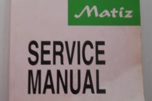 Daewoo Matiz service manual 1A-2 segment translated