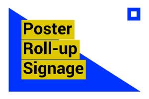 Portfolio for Poster , Rollup , Sinage & cards design