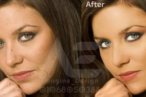 Portfolio for retouch photo and height end skin