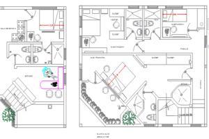 Portfolio for architectural plans autocad 2d / 3d