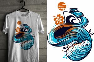Portfolio for funky,spooky and eye-catching T Shirt