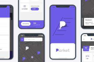 Parket Mobile App Design