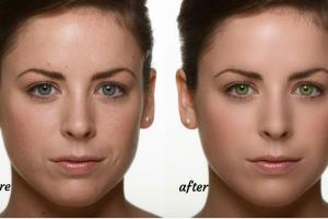 Portfolio for Portrait skin retouching