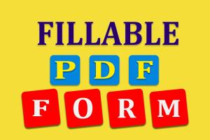 Portfolio for Creating Fillable PDF Form