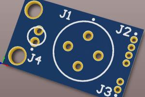 Small breakout PCB for Sensor Interface